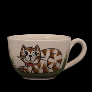 grosse tasse katze liegend - katzentassen.de