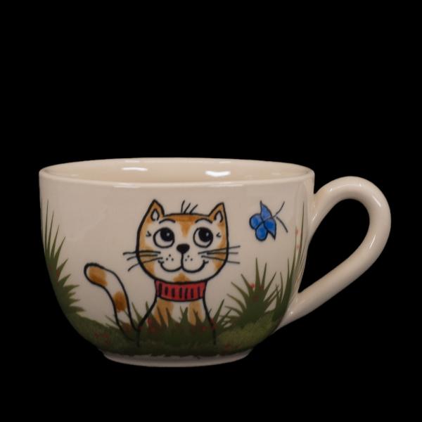 grosse tasse katze sitzend - katzentassen.de