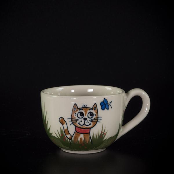 kleine tasse katze sitzend - katzentassen.de