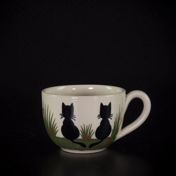 kleine tasse 2 schwarze katzen - katzentassen.de