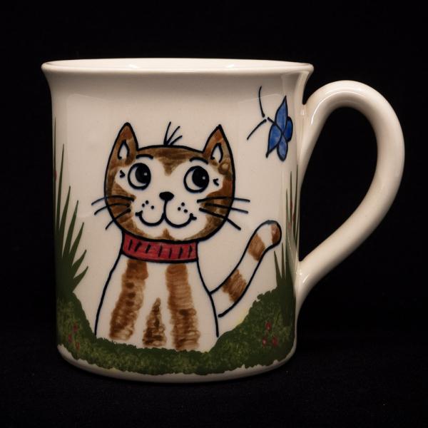 tasse mit henkel katze sitzend - katzentassen.de