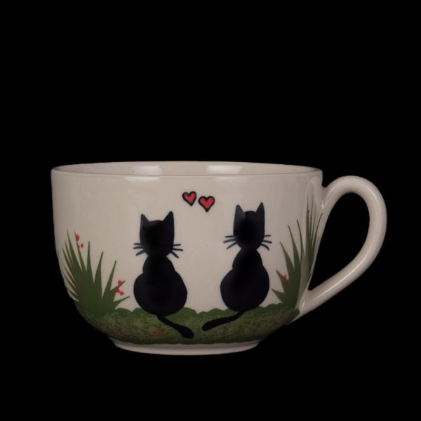 grosse tasse schwarze katze - katzentassen.de