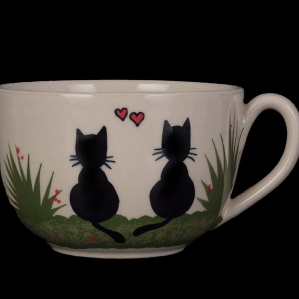 jumbotasse schwarze katze - katzentassen.de